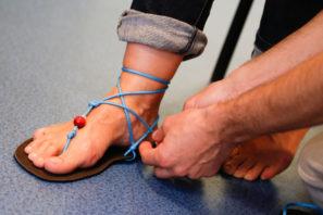 Happy Sandals Fyzio workshop vázání kolem kotníku