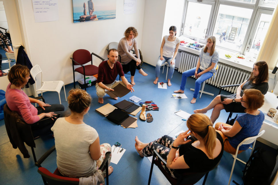 Happy Sandals Fyzio workshop podrážkové materiály