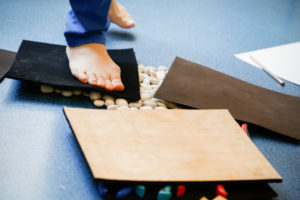 Happy Sandals Fyzio workshop propriocepce testování materiálu