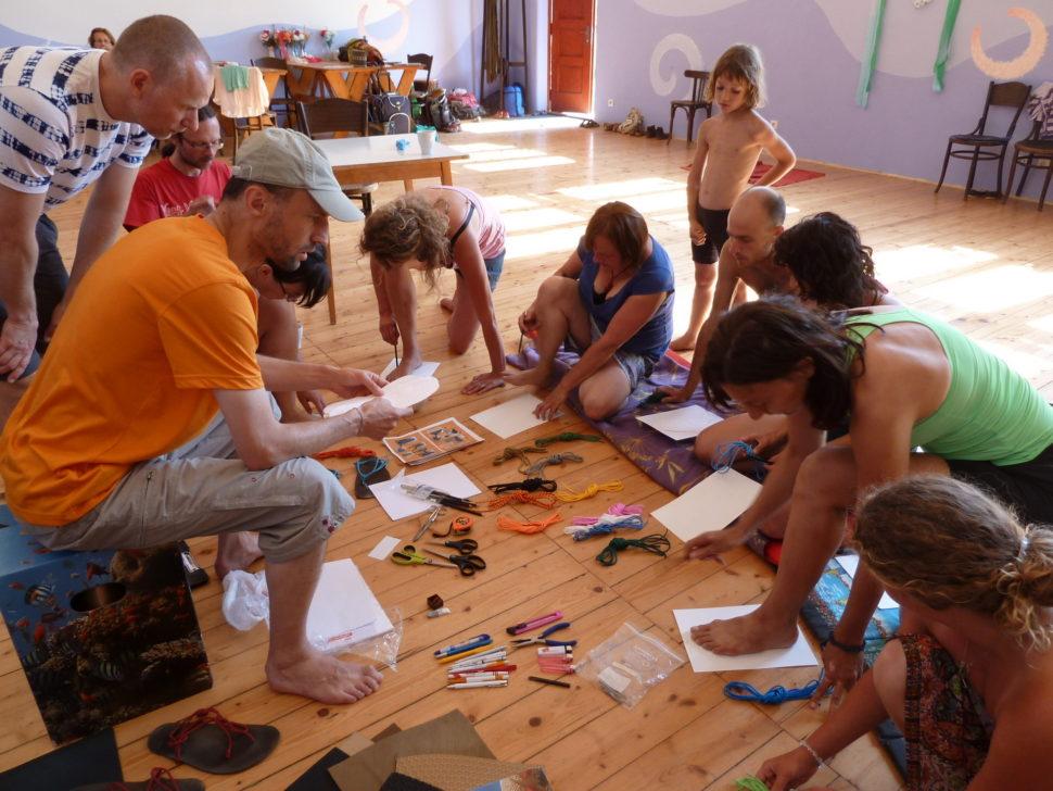 Happyfoot náš první workshop navýrobu sandálů
