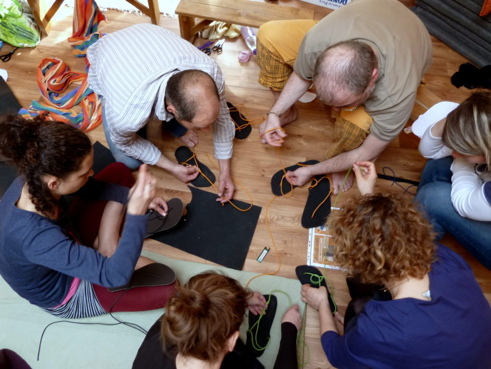 Práce naHappy Sandals workshopu