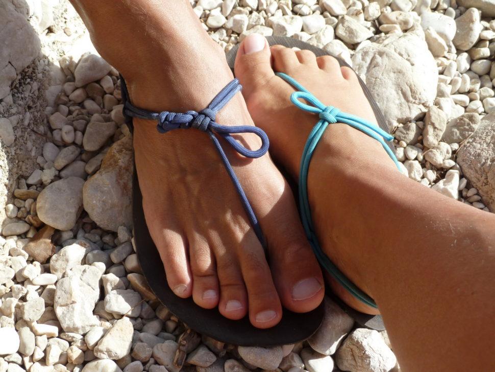 Jin aJang barefoot sandály nanohách