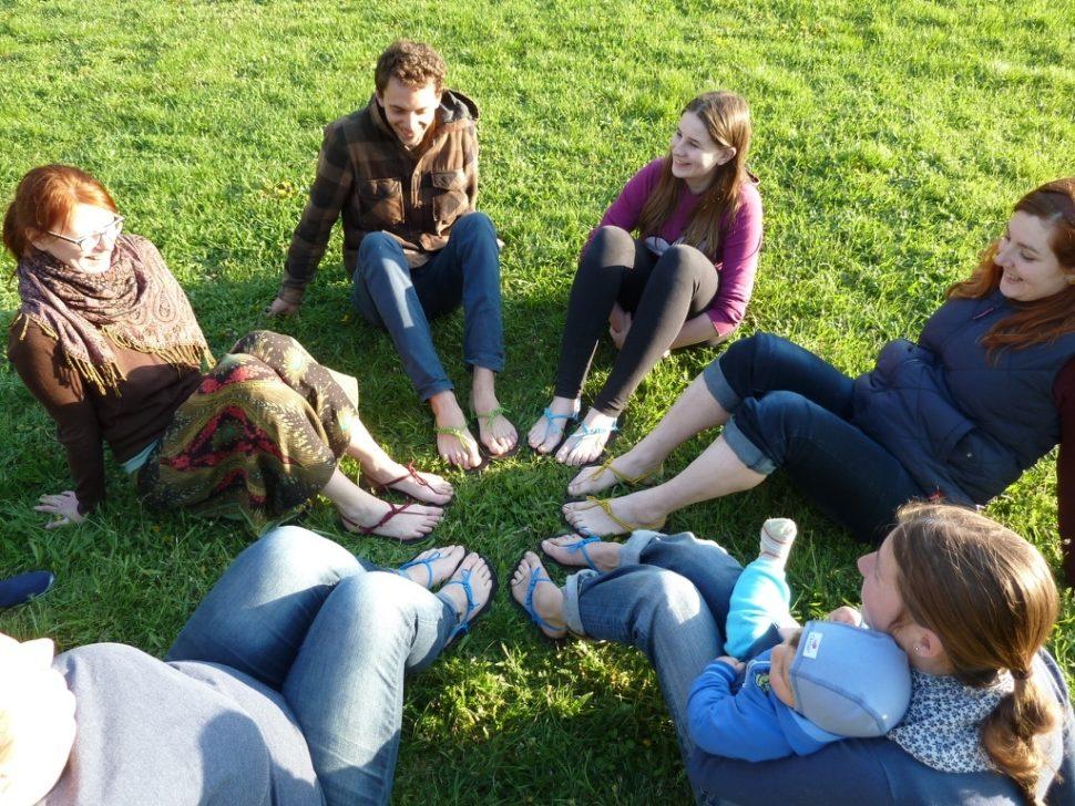 Barefoot sandály zworkshopu šťastných sandálů