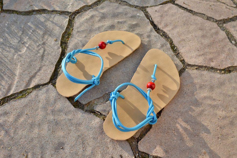 Dětské barefoot sandály sMinimalistickým úvazem