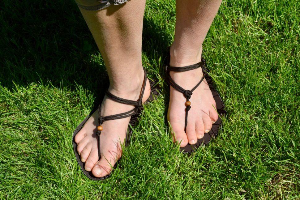 Barefoot sandály nanohou sBěžeckým úvazem