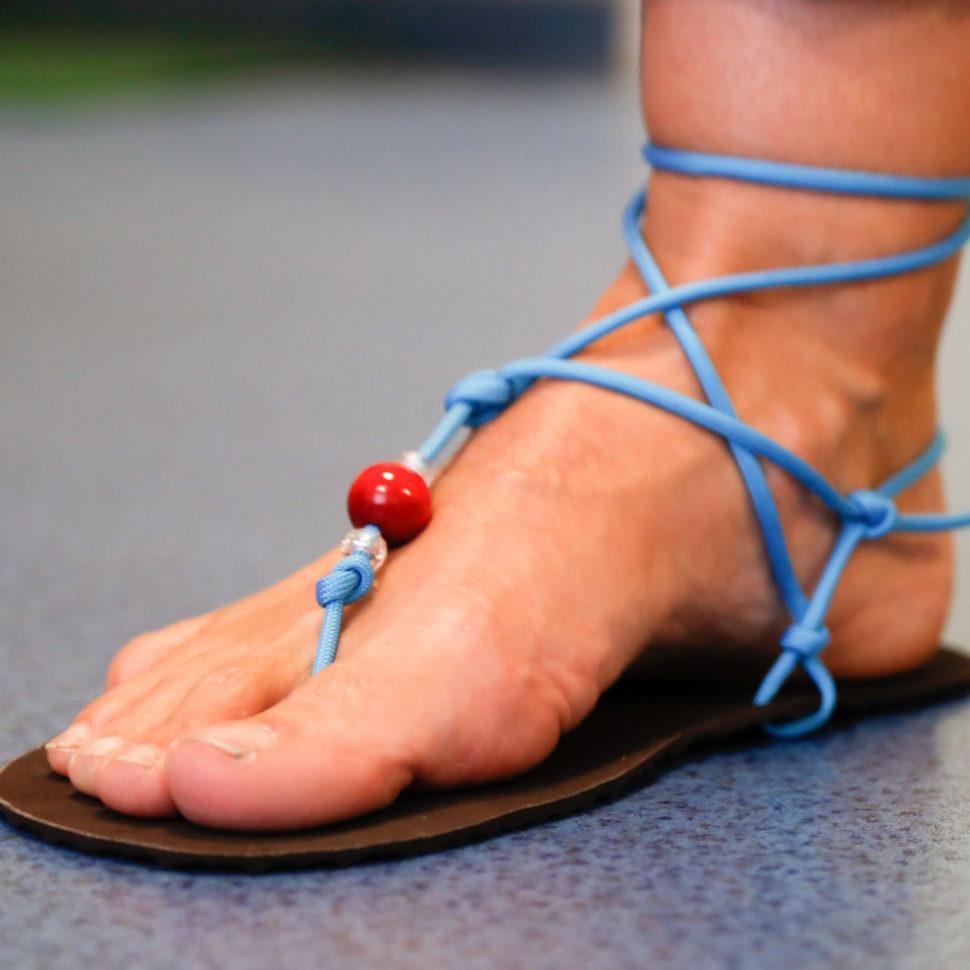 Happy Sandals kotníkový úvaz tyrkysová