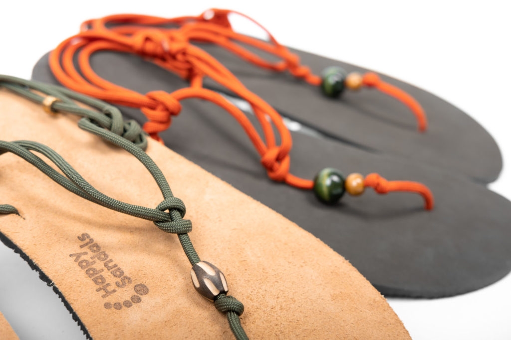 my happy sandals khaki acihlová tkanička