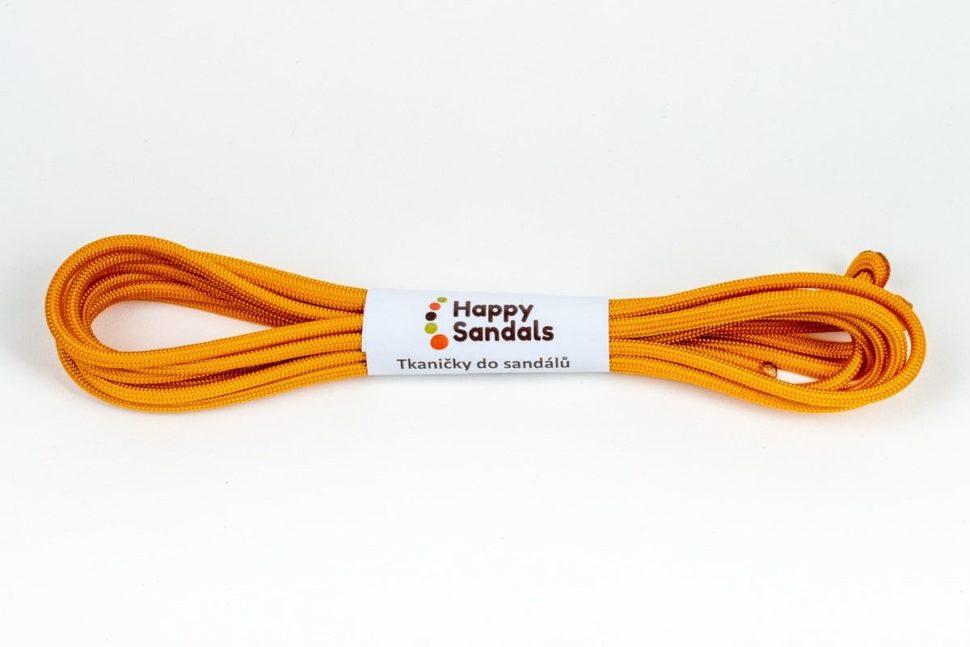tkaničky dosandálů happysandals oranžová