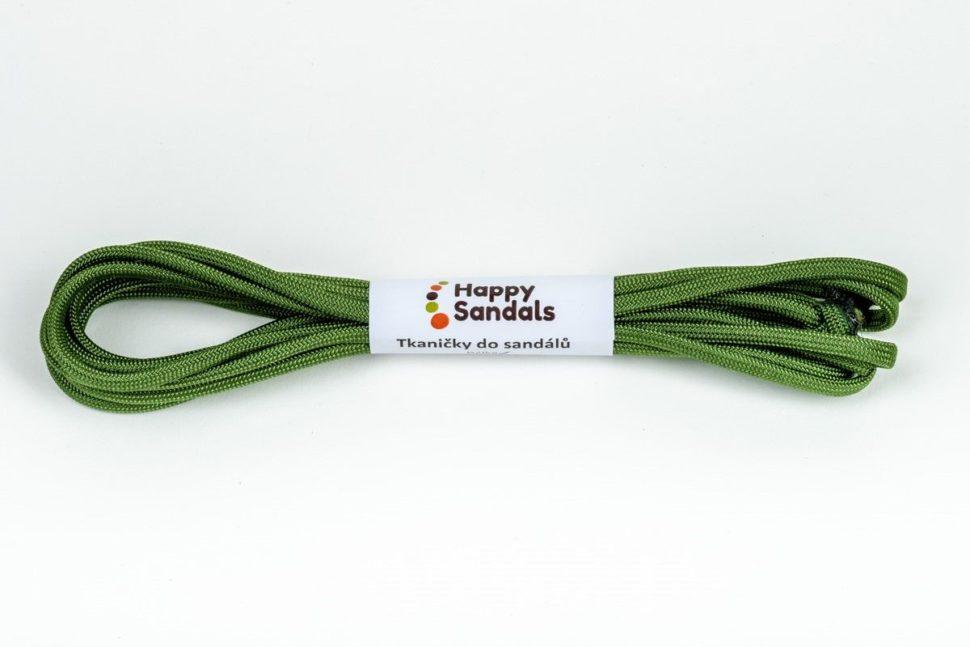 tkaničky dosandálů happysandals zelená
