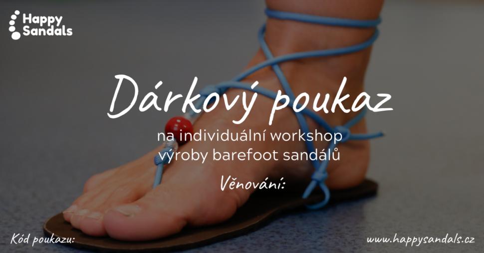 Dárkový poukaz naindividuální Happy Sandals workshop